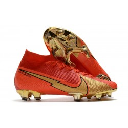 Crampon Nike Mercurial Superfly VII Elite FG CR100 Rouge Or