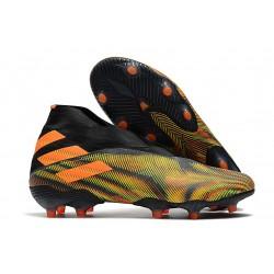 adidas Chaussures de Foot Nemeziz 19+ FG Vert Noir Orange