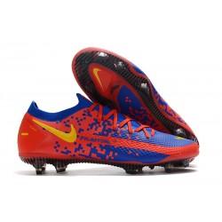 Nike Crampons Football Phantom GT Elite FG Rouge Bleu Jaune