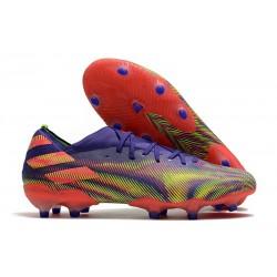 adidas Nouveau Chaussures Nemeziz 19.1 FG - Encre Energie Rose Signal Vert Signal