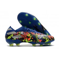 adidas Nouveau Chaussures Nemeziz 19.1 FG -Barcelona Bleu Royal Argent Jaune