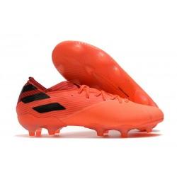 adidas Nouveau Chaussures Nemeziz 19.1 FG - Corail Noir Rouge Goire