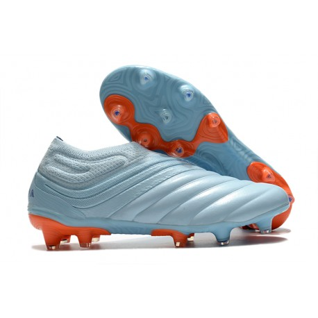 Chaussures Foot adidas Copa 20+ FG Ciel Bleu Royal Corail