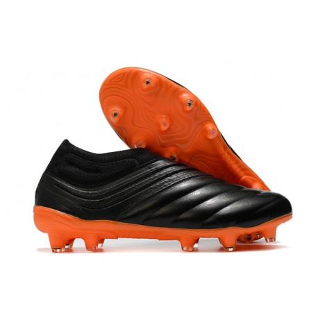 Chaussures Foot adidas Copa 20+ FG Noir Orange