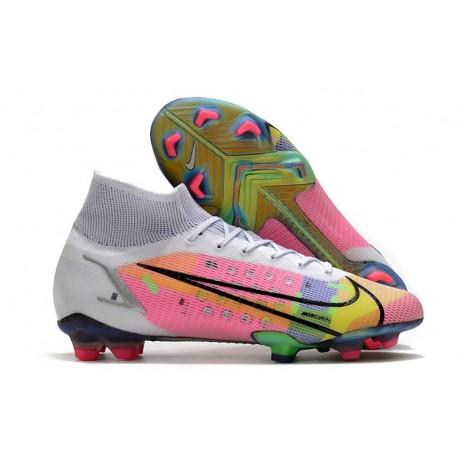 Chaussures Nike Mercurial Superfly VIII Elite FG Blanc Multicolore