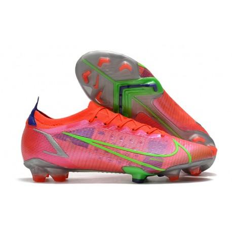 Chaussure Nike Mercurial Vapor XIV Elite FG Rubis Argent Metallique
