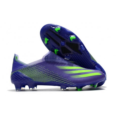 Chaussure adidas X Ghosted + FG Violet Vert
