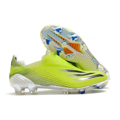Chaussure adidas X Ghosted + FG Jaune Fluo Noir