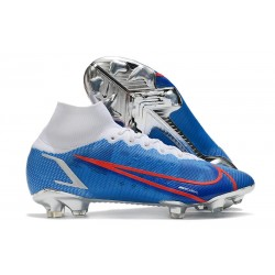 Chaussures Nike Mercurial Superfly VIII Elite FG Bleu Rouge Blanc