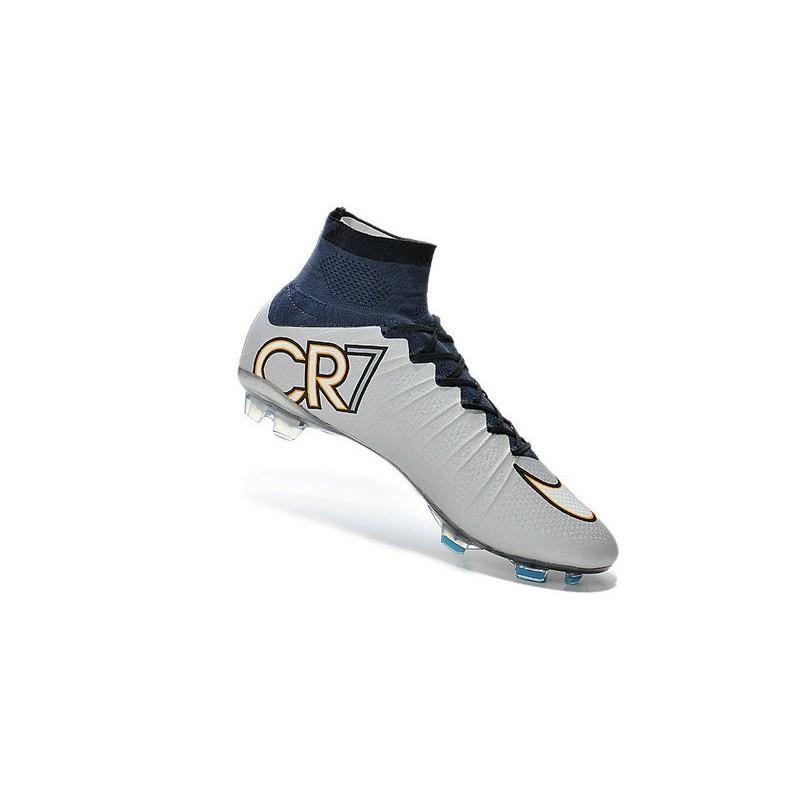 Nouveau Chaussure de Football Nike Mercurial Superfly CR FG Argent Blanc Hyper Turquoise Noir
