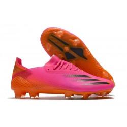 adidas X Ghosted.1 FG Crampons Rose Noir Orange