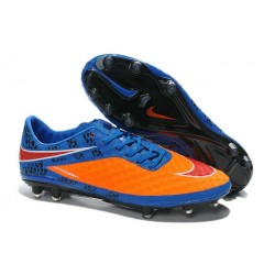 2014/2015 Nouvelle Nike Hypervenom Phantom FG Hommes Orange Rouge Bleu Pack de Réflexion