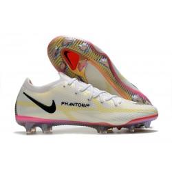 Crampons Foot Nike Phantom GT2 Elite FG Blanc Noir Carmin Rose