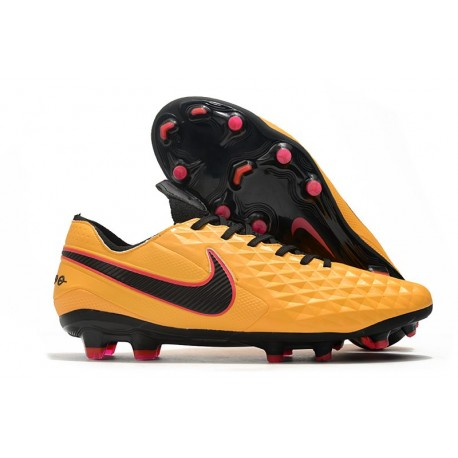 Nike Tiempo Legend VIII Elite FG Crampons Orange Noir
