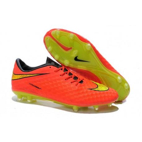 2015 Chaussure de Football Nike Hypervenom Phantom FG Pas Cher Orange Jaune