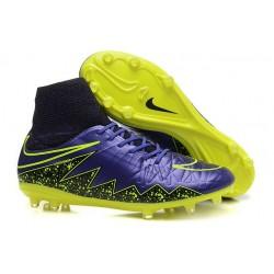 Nike HyperVenom Phantom 2 FG Chaussures de football Jaune Violet Noir