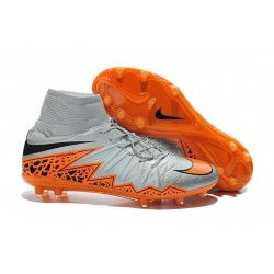 Nike HyperVenom Phantom 2 FG Chaussures de football Loup Gris Orange Noir