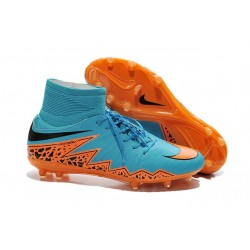 Nike HyperVenom Phantom II FG Football bottes pour hommes Bleu Orange Noir