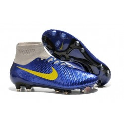Nouveau Chaussures de Football Nike Magista Obra FG Marine Bleu Gris