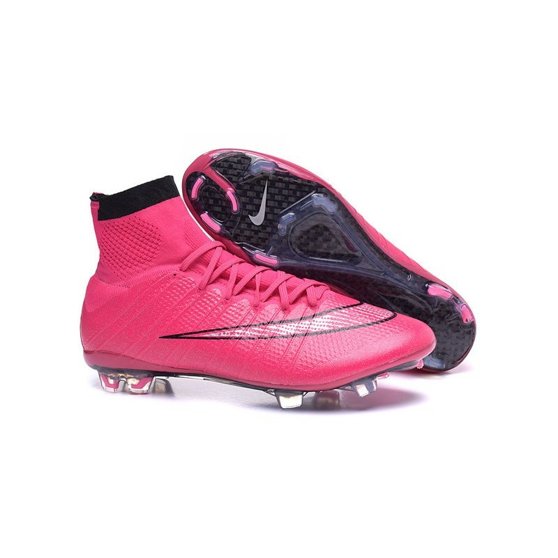 2015 nike mercurial superfly 4 fg crampons de football noir rose. Black Bedroom Furniture Sets. Home Design Ideas