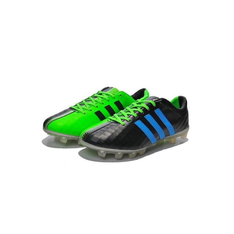 crampons de foot hommes chausuures adidas 11pro fg noir bleu vert. Black Bedroom Furniture Sets. Home Design Ideas