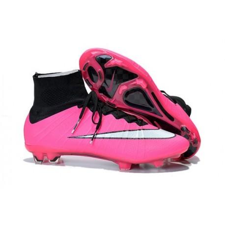 Nouveau Chaussure de Football Nike Mercurial Superfly CR FG Rose Blanc Noir
