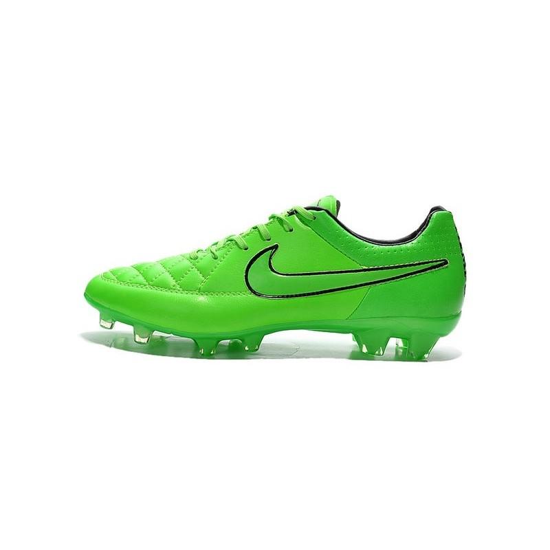 san francisco 2d06f da1fd Nike Tiempo Legend V FG Chaussure de football sol dur pour Homme Vert Noir
