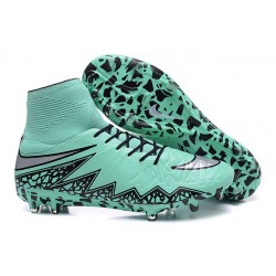 Nike HyperVenom Phantom 2 FG Chaussures de football Vert Noir Gris
