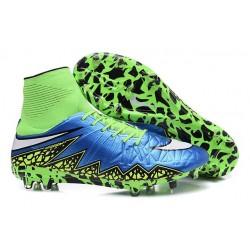 Nike HyperVenom Phantom II FG Football bottes pour hommes Bleu Lagon Blanc Volt Noir