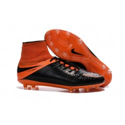 Nike HyperVenom Phantom 2 FG Chaussures de football Cuir FG Noir Orange Total