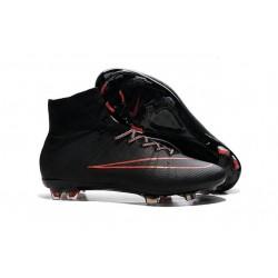 Nouveau Chaussure de Football Nike Mercurial Superfly CR FG Rouge Noir