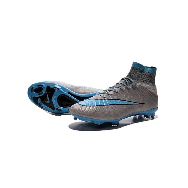 2015 nouvelle chaussure nike mercurial superfly iv fg bleu gris noir. Black Bedroom Furniture Sets. Home Design Ideas