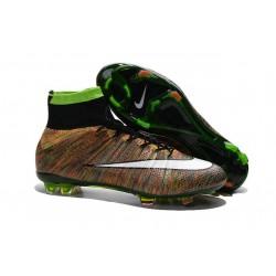 Nouveau Chaussure de Football Nike Mercurial Superfly CR FG Vert Noir Blanc Multicolore