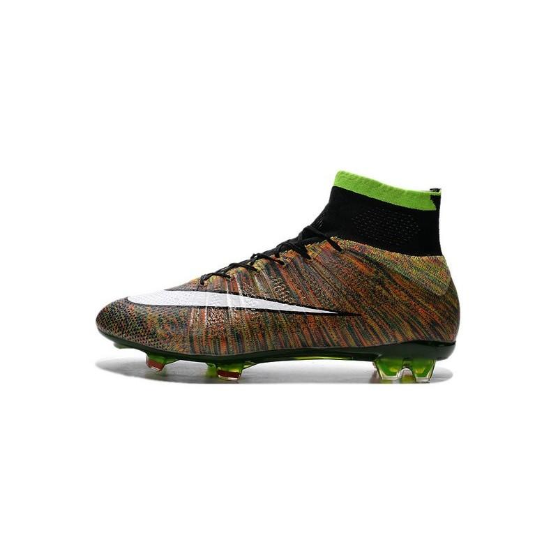 new style 07484 ca246 ... buy nouveau chaussure de football nike mercurial superfly cr fg vert  noir blanc multicolore f872d d08e6