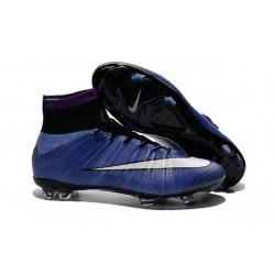 Nouveau Chaussure de Football Nike Mercurial Superfly CR FG Violet Noir Blanc Multicolore