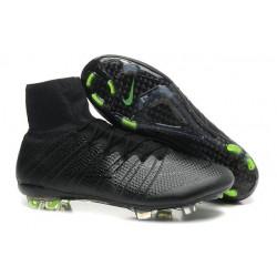 2015 Nouvelle Chaussure Nike Mercurial Superfly IV FG Noir Volt
