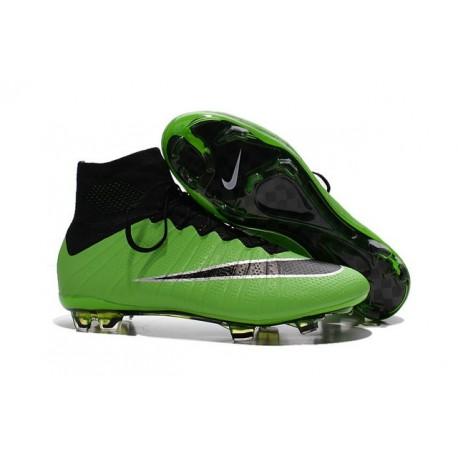 Nouveau Chaussure de Football Nike Mercurial Superfly CR FG Vert Noir