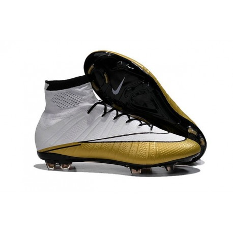 2015 Nouvelle Chaussure Nike Mercurial Superfly IV FG CR 501 Blanc Or Noir