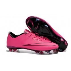 Nouvelle Chaussure de Football Nike Mercurial Vapor X FG Hyper Rose Noir