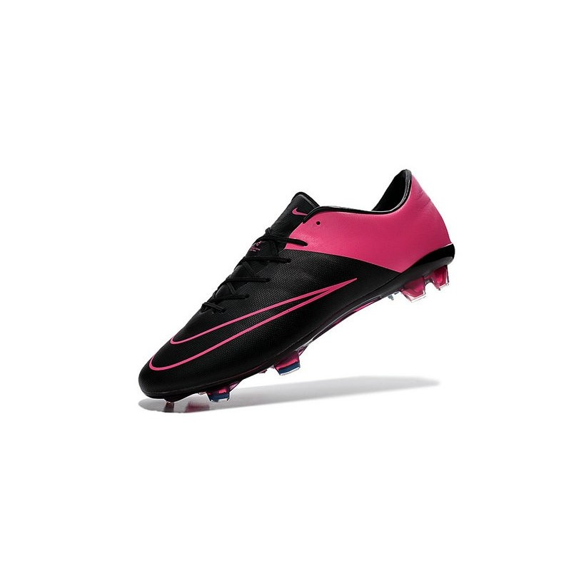 nouvelle chaussure de football nike mercurial vapor x fg noir hyper rose. Black Bedroom Furniture Sets. Home Design Ideas