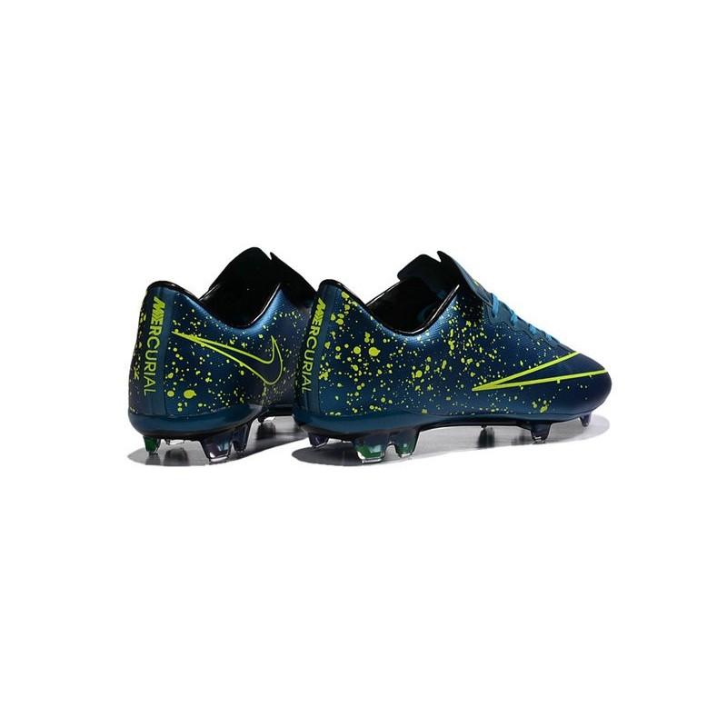 chaussure de foot mercurial bleu