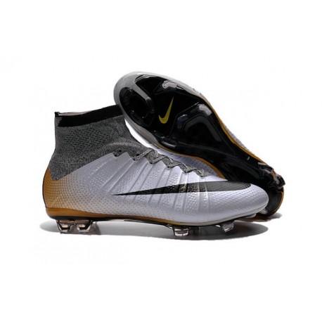 Nouveau Chaussure de Football Nike Mercurial Superfly CR FG CR7 500 Argenté Gris Noir Or