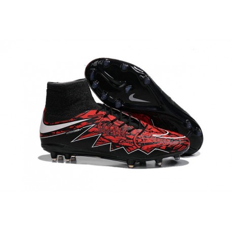 Nike HyperVenom Phantom 2 FG Chaussures de football Lewandowski Blanc Rouge Noir