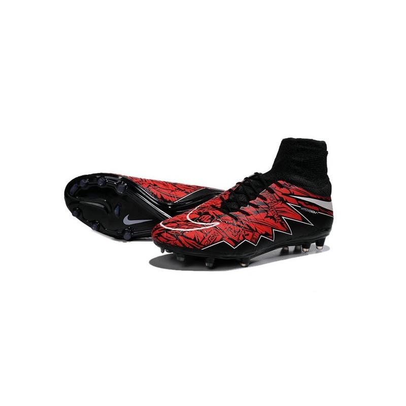 chaussure de foot nike rouge et noire