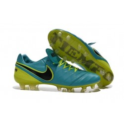 Nouveau Crampons de Football Nike Tiempo Legend VI FG Bleu Noir Volt