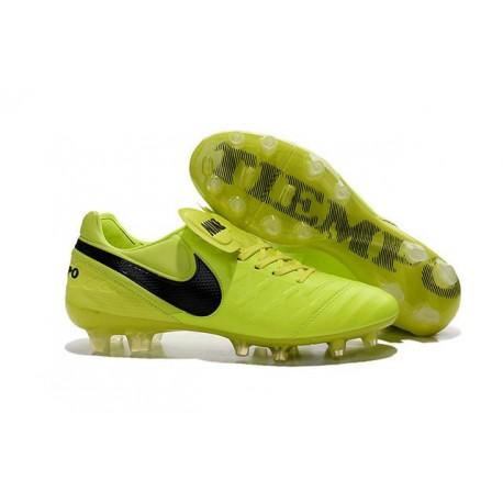 Nouveau Crampons de Football Nike Tiempo Legend VI FG Volt Noir
