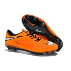 Chaussure de Football Nike Hypervenom Phantom FG ACC Orange Blanc