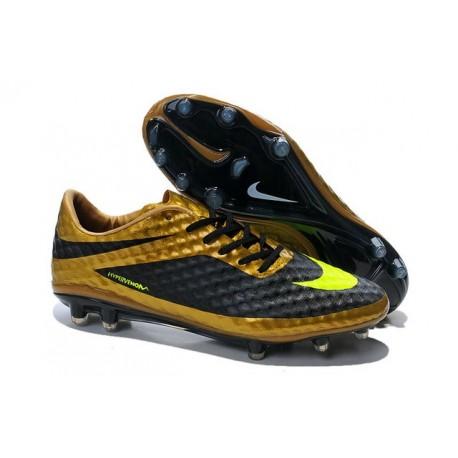 Coupe du monde 2014 Crampons Nike Hypervenom Phantom FG Or Volt Noir