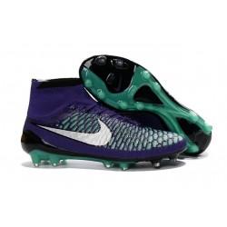 Nouveau Chaussures de Football Nike Magista Obra FG Vert Violet Noir Blanc