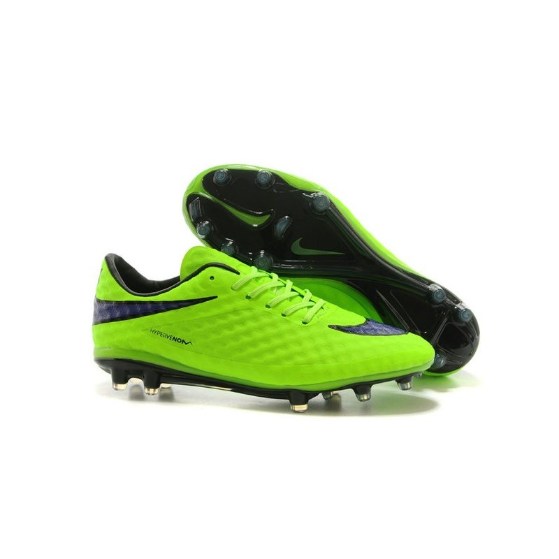 2015 chaussure de football nike hypervenom phantom fg pas cher vert noir. Black Bedroom Furniture Sets. Home Design Ideas